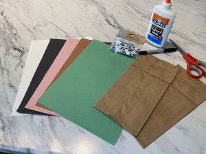 construction paper and craft supplies